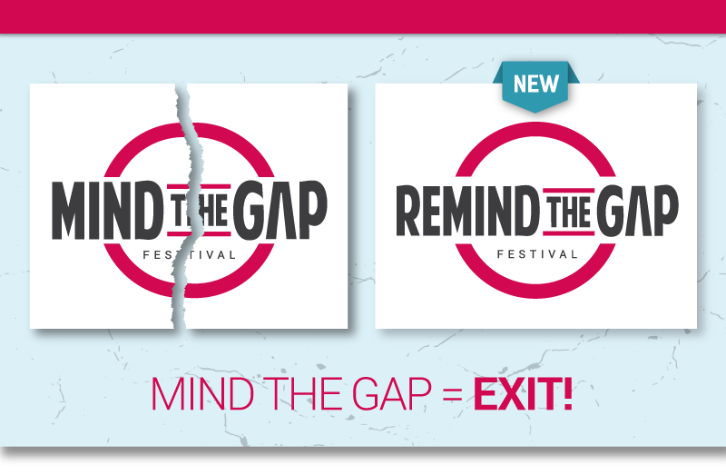 Mind The Gap wordt ReMind The Gap - aankondiging-naamswijziging